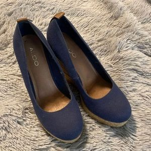 8.5 Navy Aldo Wedges